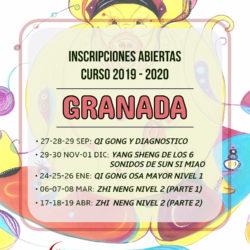 Inscripciones abiertas curso 2019-2020 en Granada