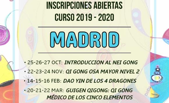 Inscripciones abiertas curso 2019-2020 en Madrid
